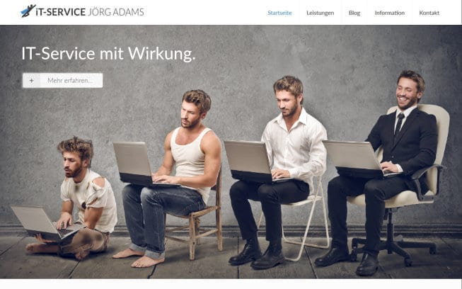 Responsive Webdesign Solingen - Macbook Content